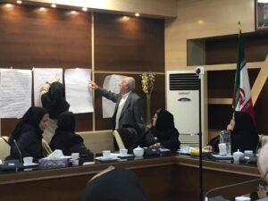 کارگاه تسهیلگری با دبیران منطقه ای کانون سالمندان شهر تهران
