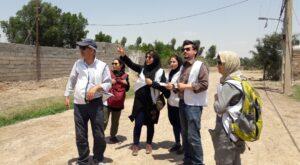 بازدید میدانی از روستاهای سیل زده خوزستان